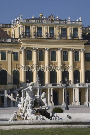 front facade schonbrunn palace unesco world