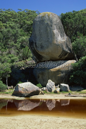 giant boulders and rocks above a