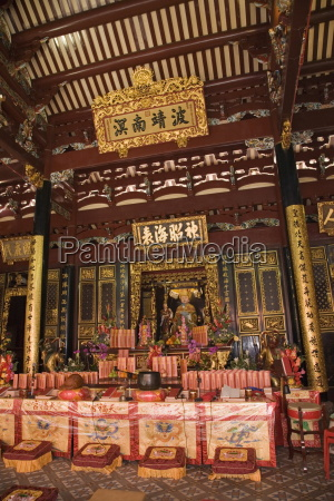 altar in main prayer hall of
