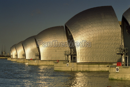 the thames flood barrier woolwich near