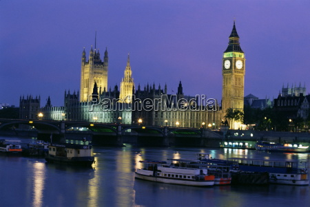 houses of parliament across the river
