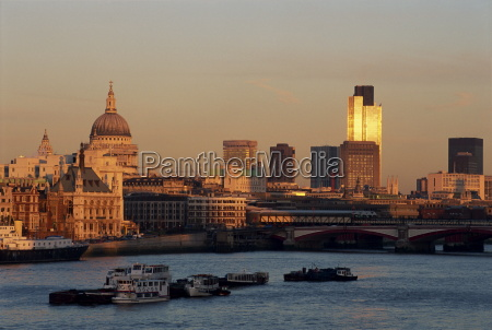 city skyline including st pauls cathedral