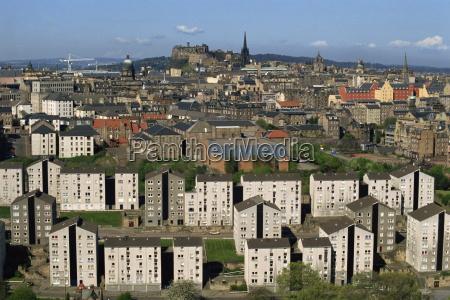 aerial view of edinburgh scotland united