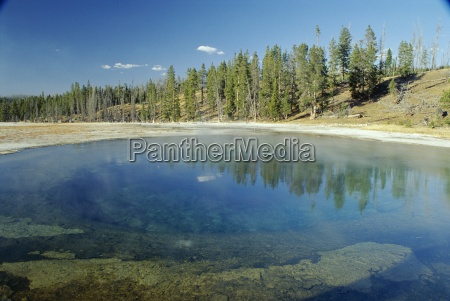 beauty pool in upper geyser basin