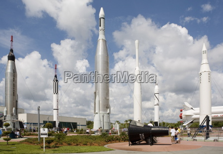 rocket garden at the kennedy space