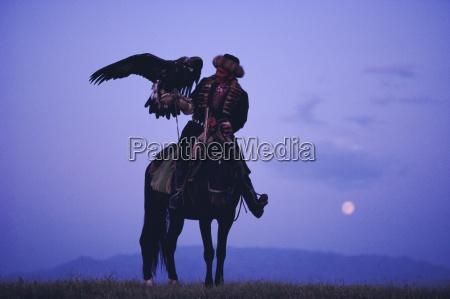 kalanash sarsembek with eagle a hunters