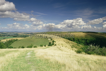 landscape with clouds win green wiltshire