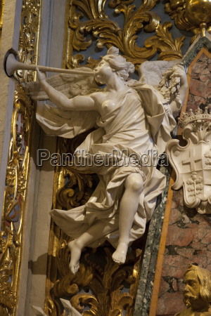 marble angel in st johns cocathedral