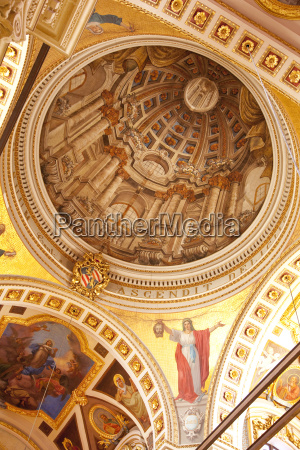 interior of dome gozo cathedral rabat