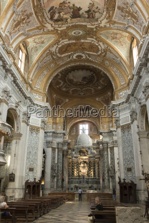 interior and high altar church of