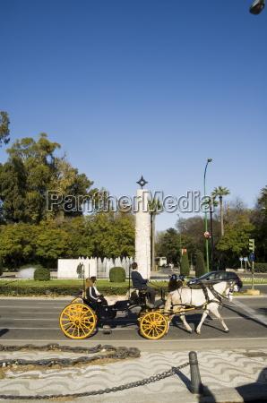 in the parque maria luisa seville
