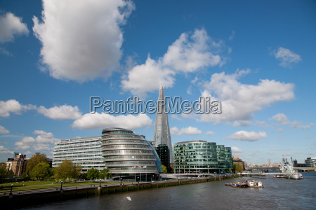 view of the shard city hall