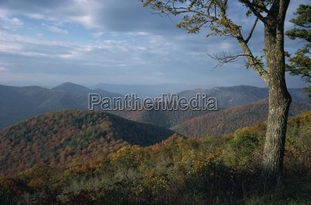 hills near loft mountain in autumn