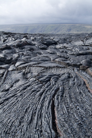 cooled lava from recent eruption kilauea