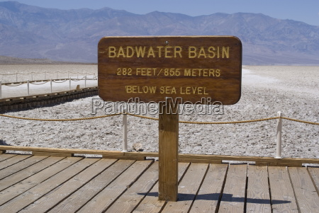 badwater the lowest point in north