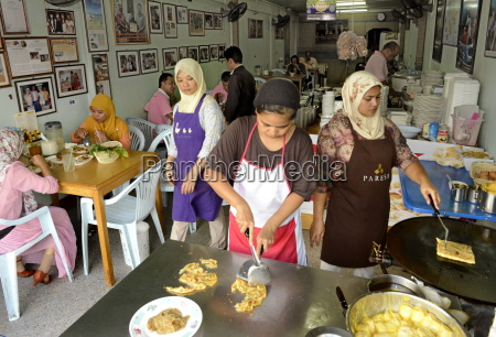muslim shop serving martabak a kind