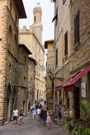 street in old town volterra tuscany