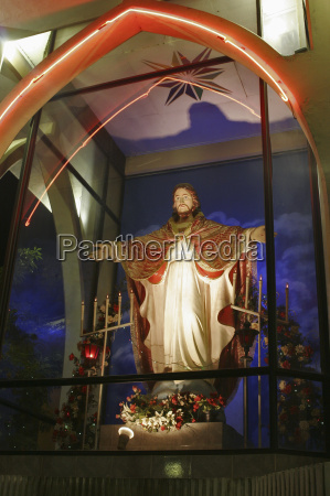 christian shrine of jesus on roadside