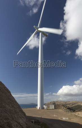 one of the turbines with a