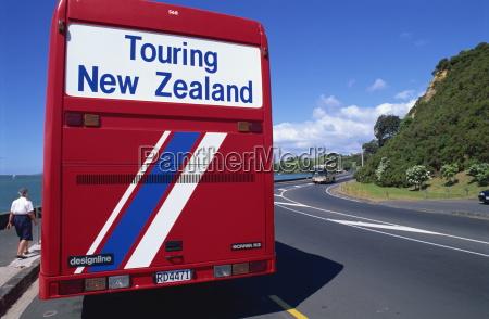 tourist coach auckland north island new