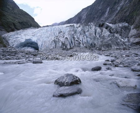 melt water and glacial rock terrain