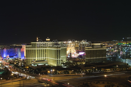 view of las vegas strip from