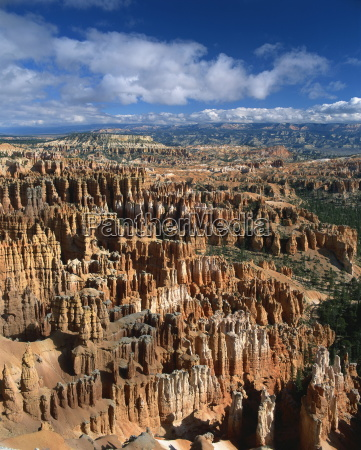 pinnacles and rock formations caused by