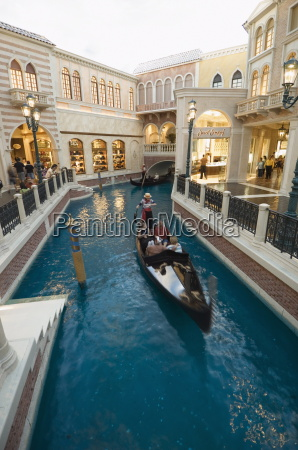 inside the venetian hotel complete with