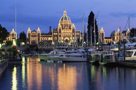 view across the inner harbour to