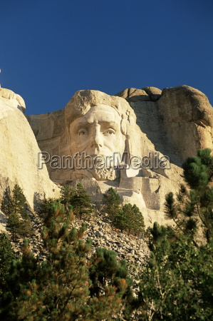 the giant head of president abraham