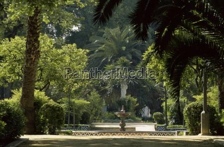 parque maria luisa seville andalusia andalucia