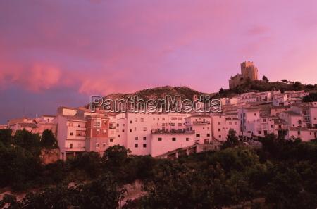 velez blanco at sunset almeria andalusia