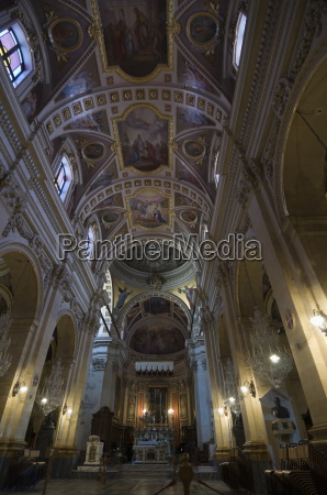 interior of the gozo cathedral inside