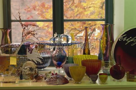 glass art pieces by designer kjell