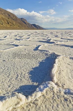 salt pan polygons at badwater basin
