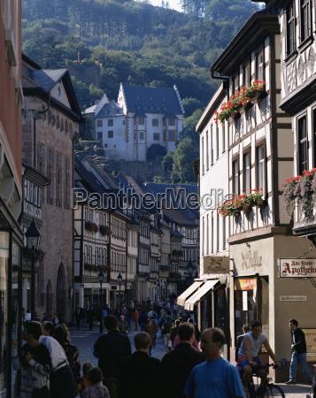 old town with castle miltenberg franken