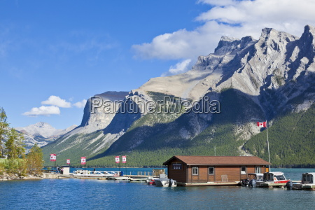 marina and boat house on lake