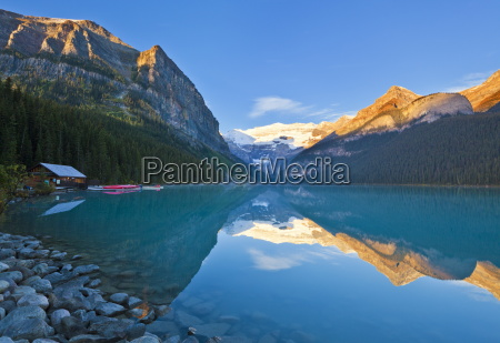 early morning suise lake louise banff