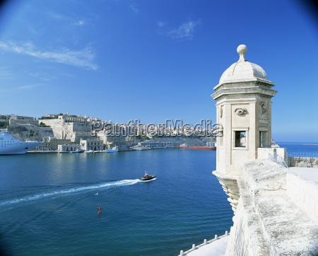 valletta viewed over the grand harbour