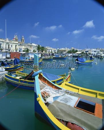marsaxlokk fishing harbour malta mediterranean europe