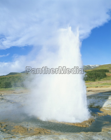 geyser at geysir thermal area near