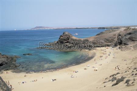 playa de papagayo lanzarote canary islands