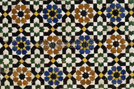 mosaic tilework zaouia moulay idriss an