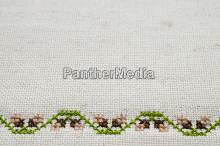 texture of beige linen fabric with