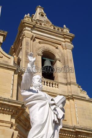 church at gharb gozo malta mediterranean