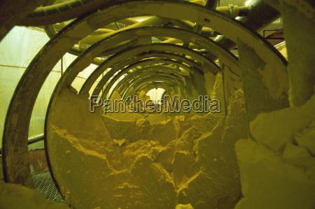 yellow cake powdery uranium oxide in