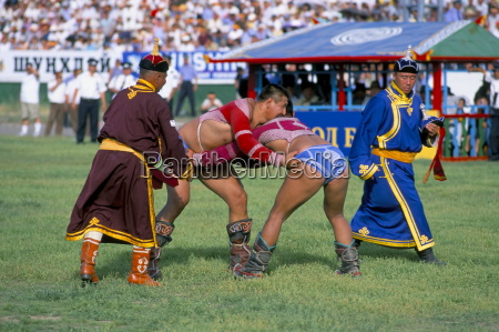 wrestling match naadam festival oulaan bator