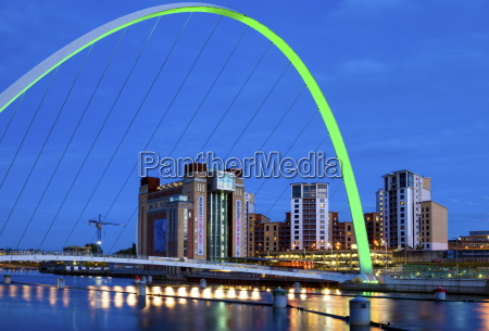 view along the quayside at night