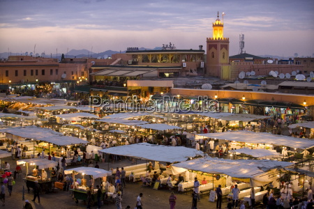 view over djemaa el fna at