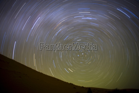 star trails captured using an exposure
